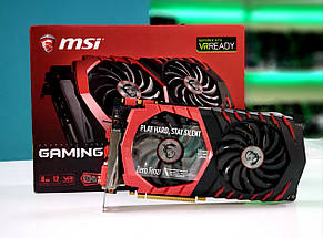 "Видеокарта MSI GeForce GTX 1070 GAMING X 8G GDDR5 ""Over-Stock"" Б/У"