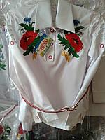 Красивая вышитая рубашка на девочку , фото 1