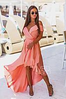 Платье-халат летнее шелковое, фото 1