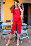 Стильный Летний костюм с бриджами 42-60р, фото 3