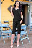Стильный Летний костюм с бриджами 42-60р, фото 5