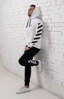 Мужской спортивный костюм Off White (черные брюки, светлая кофта), фото 1