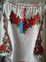 Яркая вышиванка на девочку орнамент  роза 122р-152р, фото 1