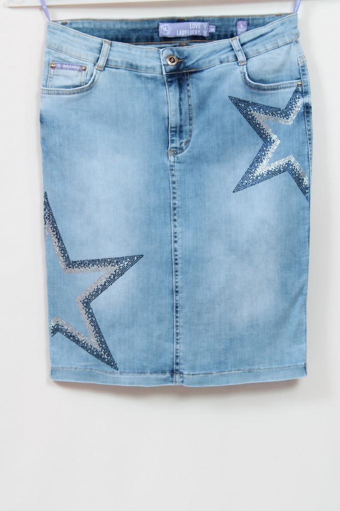 Турецкая женская джинсовая юбка больших размеров 50-62