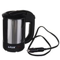 Электрочайник A-Plus 0.5 л от прикуривателя для автомобилистов Серый с черным (200132)