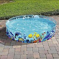 Бассейн с жесткими бортами для детей . Bestway 55030 183*38 см.