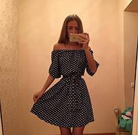 Платье летнее-сарафан в горошек