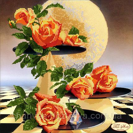 """Схема для вышивки бисером на атласе """"Лунные розы"""". Художник Ilene Meyer, фото 2"""