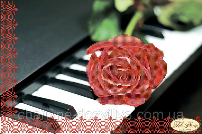 Схема для вышивки бисером Пианино и роза, фото 2