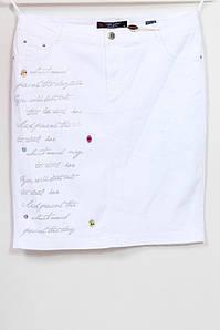 Женская белая джинсовая юбка больших размеров 50-62