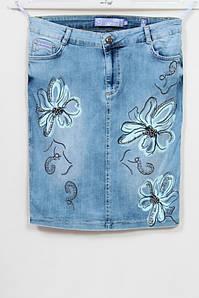Женская джинсовая юбка производства Турция, 50-62