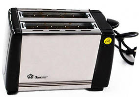 Тостер DOMOTEC MS-3231 Black Steel (650 Вт)