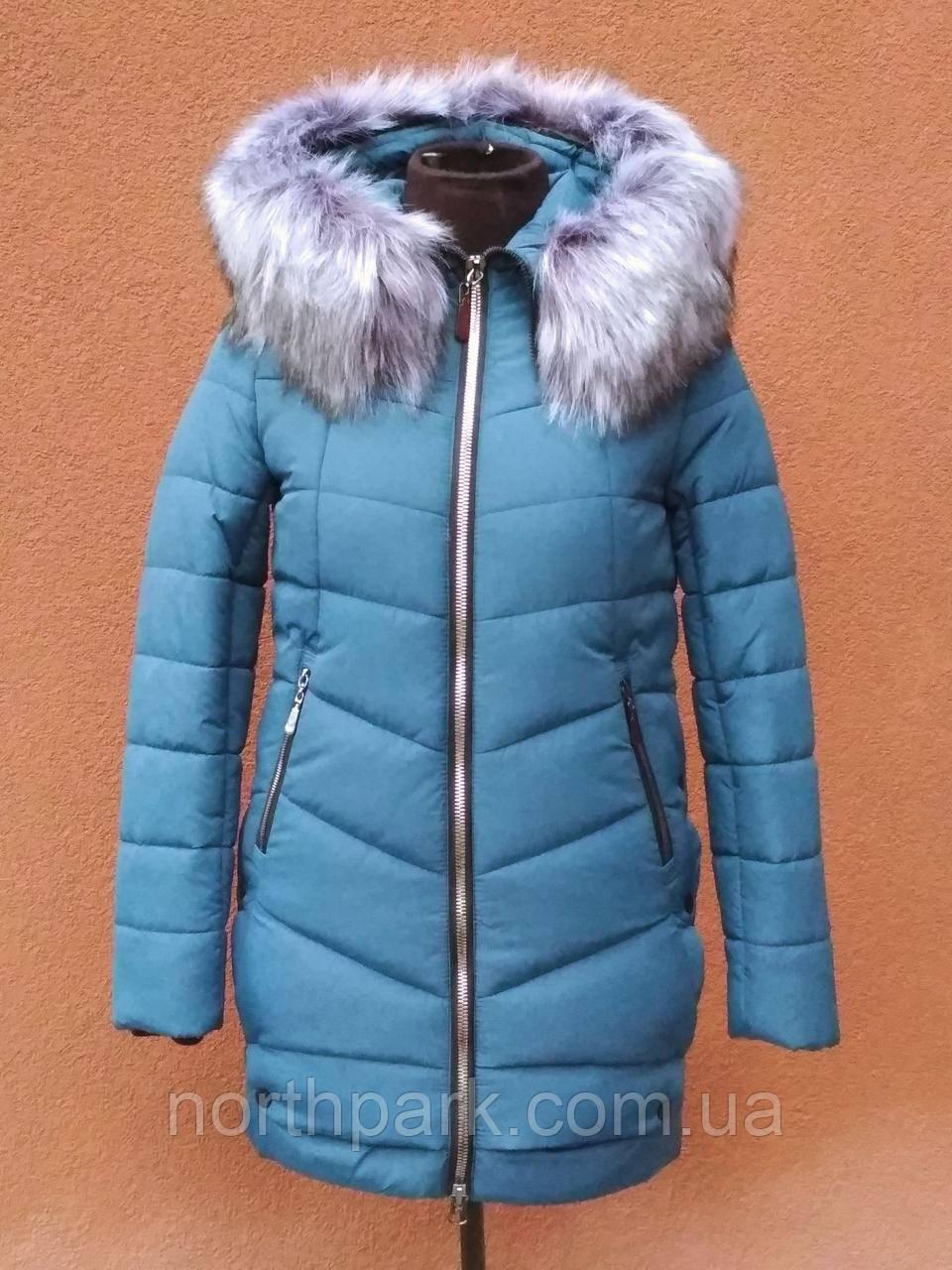 Довга зимова куртка VS Z-148, темно-голуба