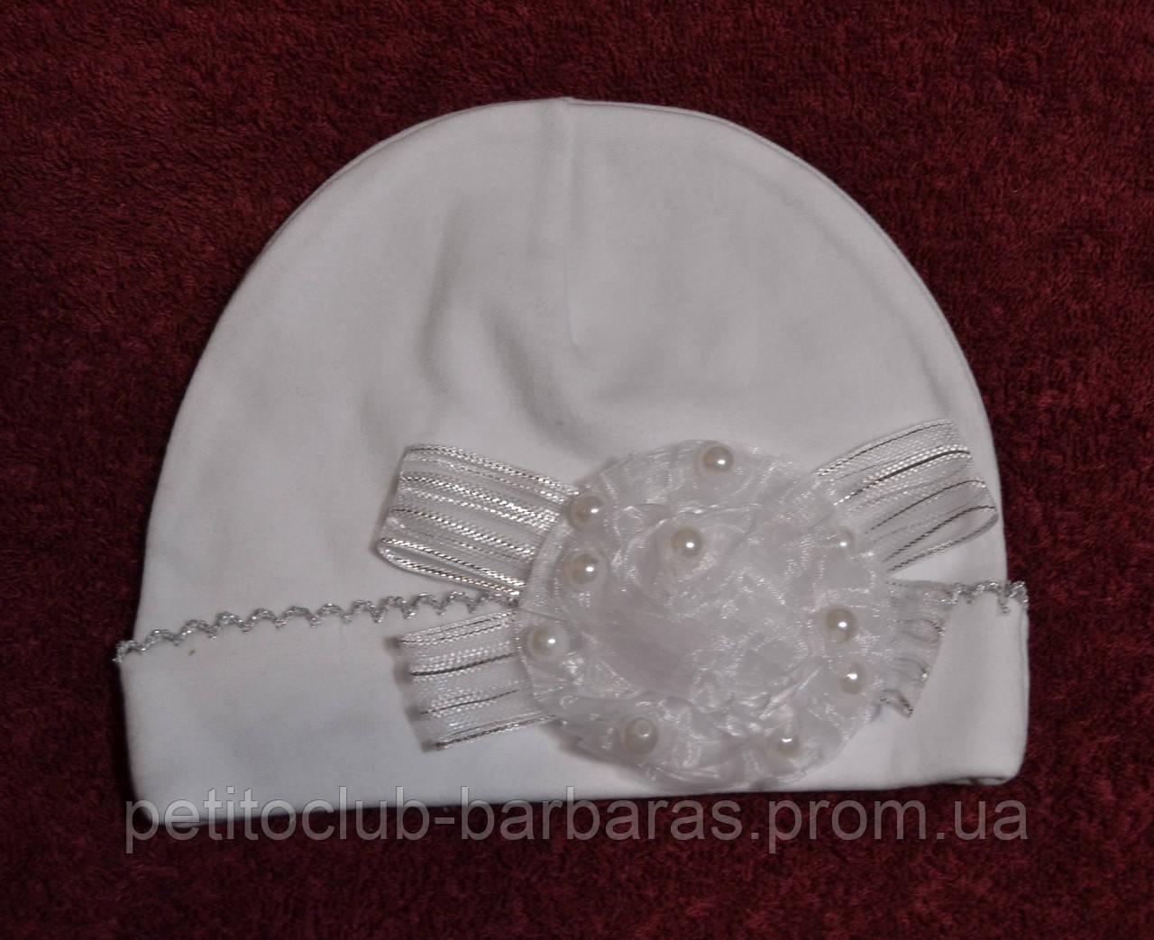 Нарядная шапка трикотажная с цветком (Kardi,Турция)