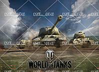"""Харчовий цукровий / вафельний істівний друк _ лист А4 """"ТАНЧИКИ - World of Tanks"""""""