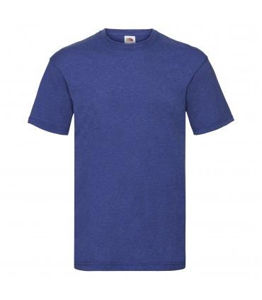 Мужская футболка однотонная синий меланж 036-R6