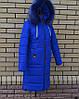 Женское пальто пуховик с мехом на капюшоне модное, фото 5