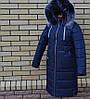 Женское пальто пуховик с мехом на капюшоне модное, фото 2