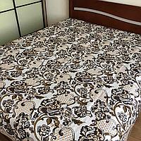 Гобеленовое плед-покрывало, капа 220х240 см. для кровати, дивана, пляжа, пикника