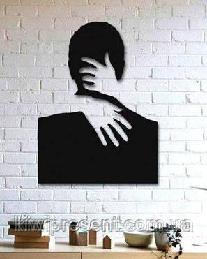 """Декоративное панно на стену """"С любимыми не расставайтесь..."""" . Картина из металла., фото 2"""