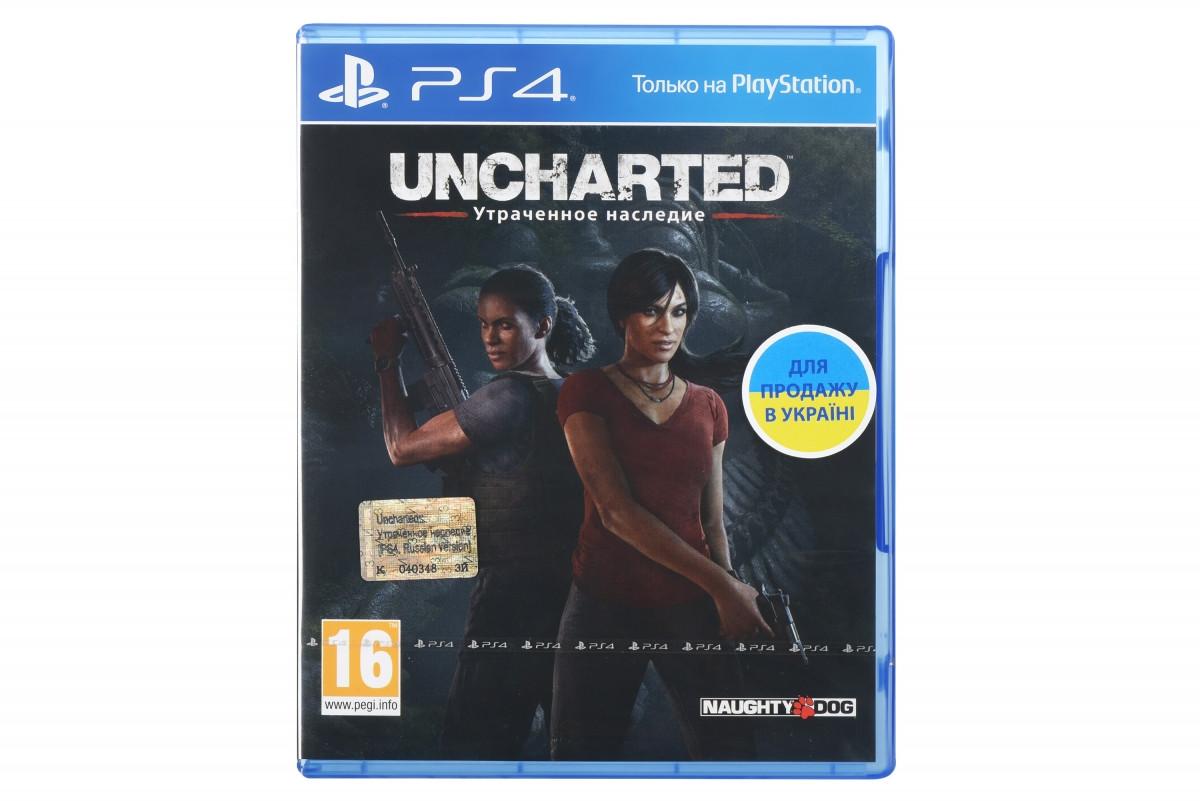 Диск PlayStation 4 Uncharted: Втрачена спадщина [Blu-Ray диск]