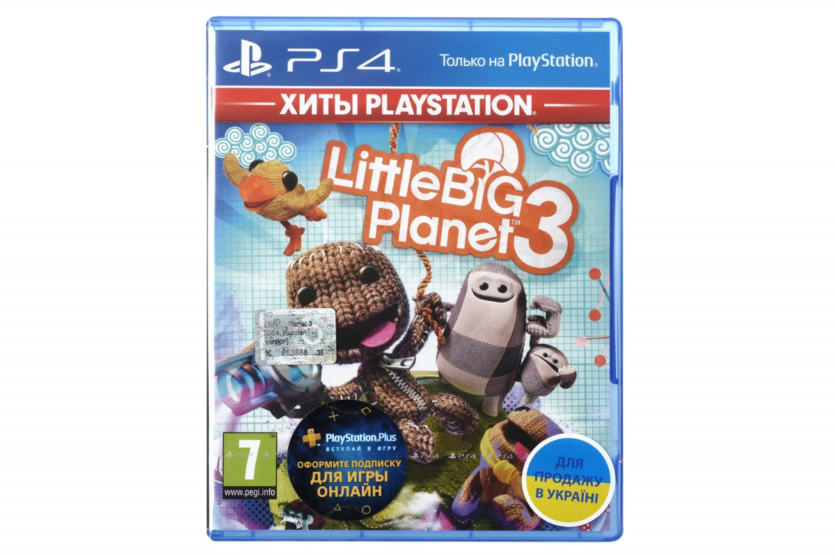 Диск PlayStation 4 LittleBigPlanet 3 - Хиты PlayStation (PS4, русская версия) Blu-ray