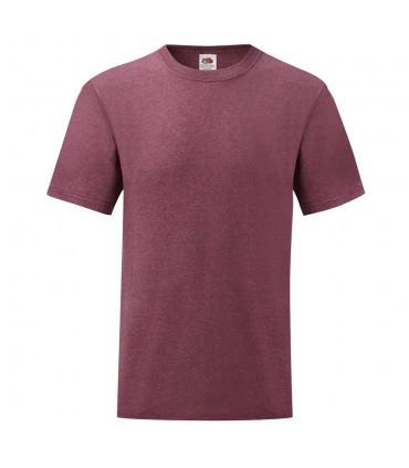 Мужская футболка однотонная бордовый меланж 036-H1
