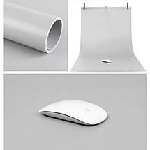 Серый матовый ПВХ (виниловый) фон Puluz для предметной фото и видео съемки 200 х 120 см., фото 3