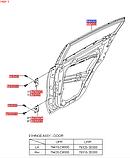 Дверь задняя левая киа Спортейдж 4, KIA Sportage 2016-20 QLe, 77003f1000, фото 5