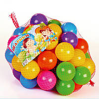 Шарики для сухого бассейна в сетке 50 шт / 60 мм мягкий пластик Кульки для басейну МТойс M-TOYS 13026 000144