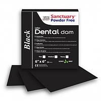 Коффердам латексный Sanctuary Powder Free Latex Dental Dam с ароматом мяты средний 152х152 мм, 52 шт Черный