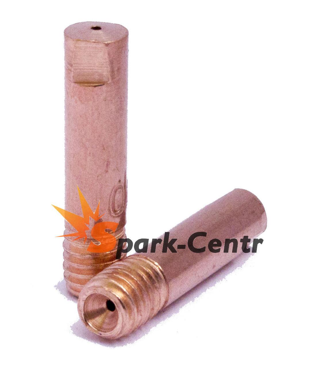 Наконечник токосъемный медный Ø1,0 мм М6х25 для сварочных горелок МВ-15 (MIG/MAG)