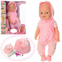 Кукла Пупс Baby Born. Беби Борн  8006-458 Рост42 см, бутылочка, горшок, соска магнитная, тарелка, ложка, каша