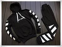 Молодежный спортивный костюм Off White черного цвета, фото 1