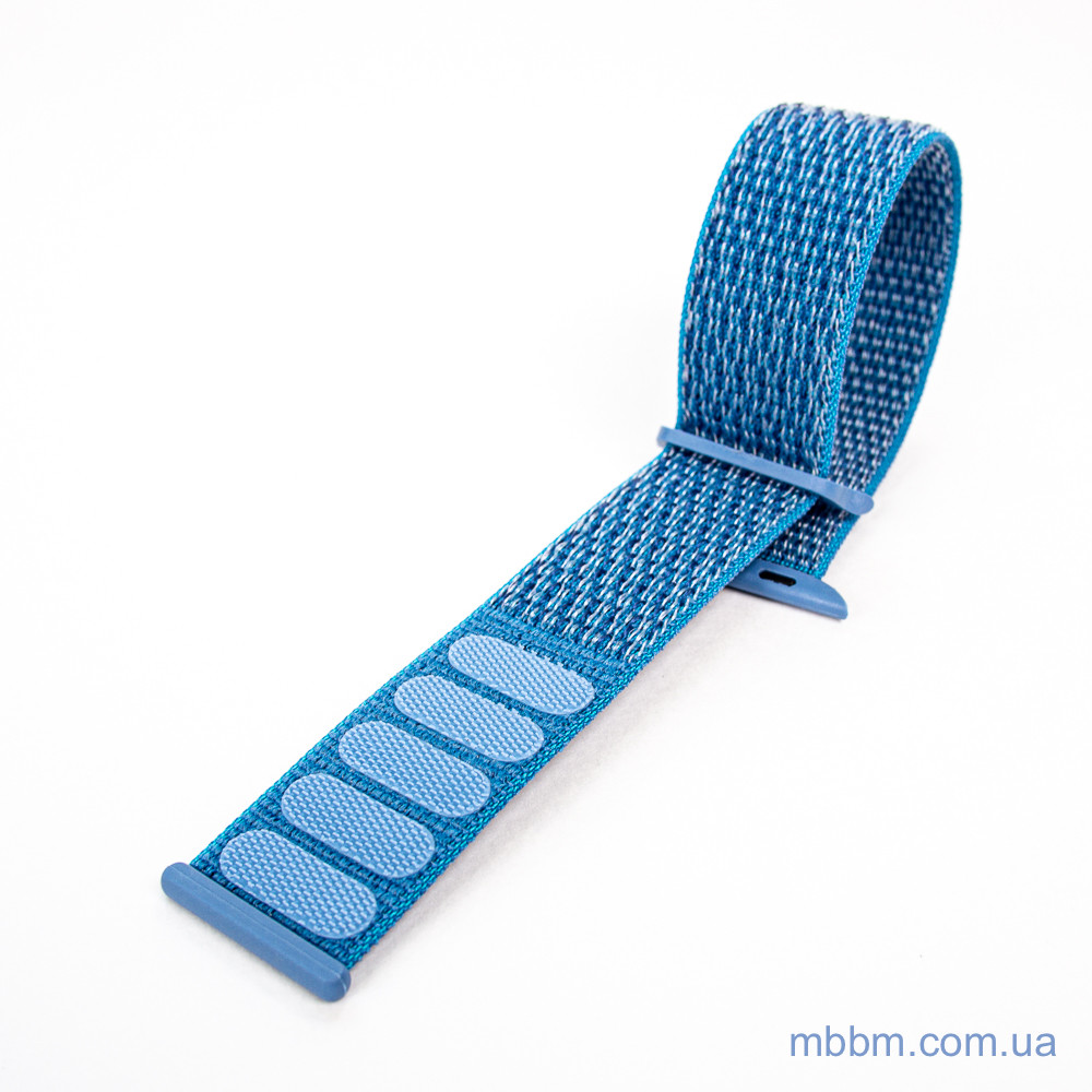 Ремешок Apple Watch 42 44mm Nylon Sport Loop blue
