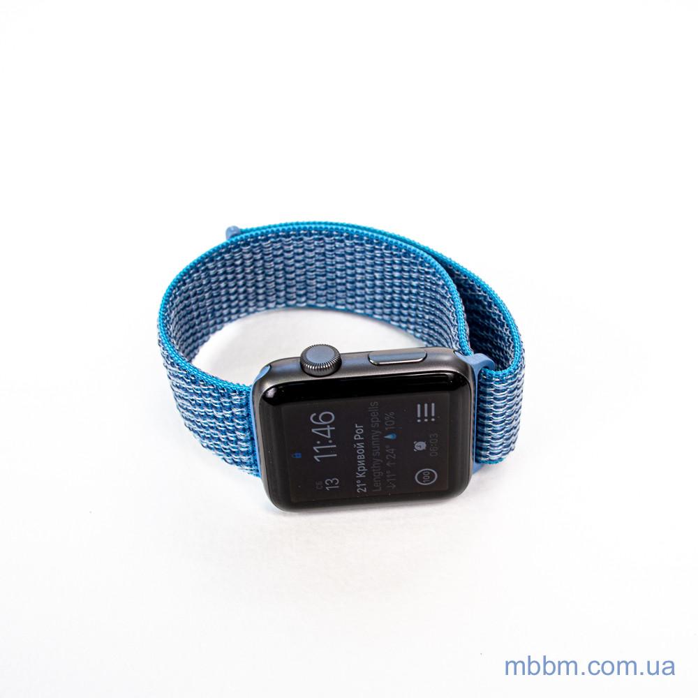 Ремешок Apple Watch 42 44mm Nylon Sport Loop blue Текстиль Синий