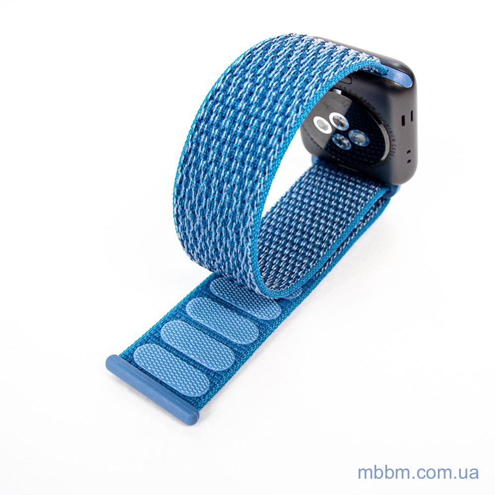 Ремешок Apple Watch 42 44mm Nylon Sport Loop blue Текстиль