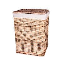 Корзина для белья плетеная с крышкой бежевая AWD02241581