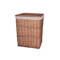 Корзина для белья плетеная с крышкой коричневая AWD02241585