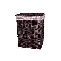 Корзина для белья плетеная с крышкой темно - коричневая AWD02241589