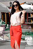 Модная женская юбка для офиса 42-60р, фото 4