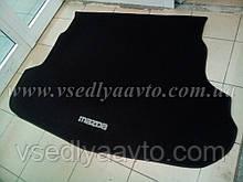 Ворсовый коврик в багажник MAZDA 6 седан с 2008 г.  (Черный)