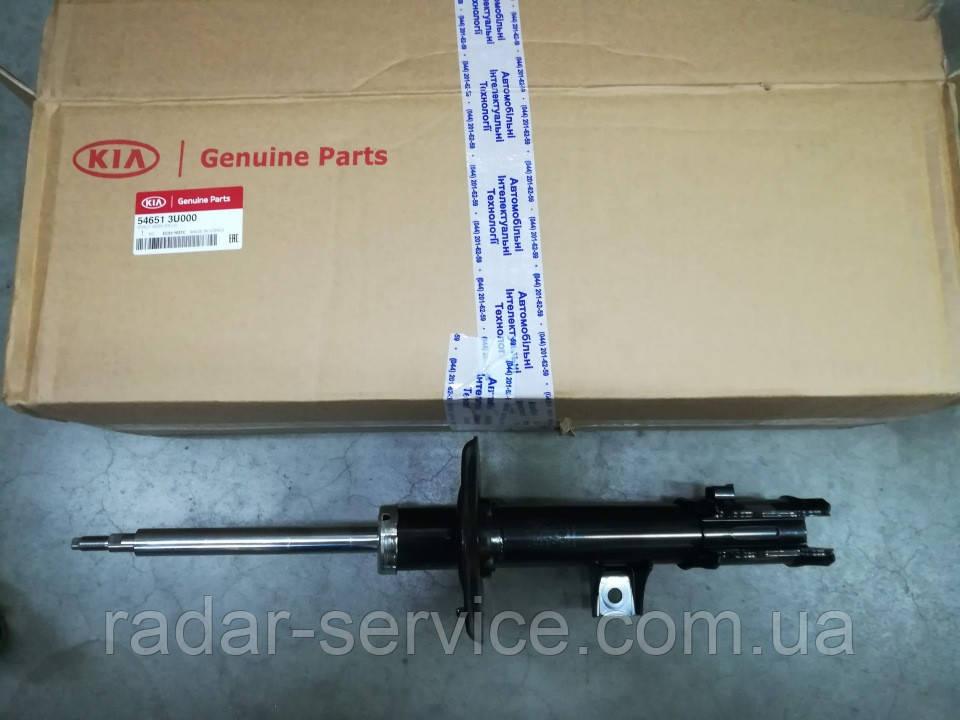 Амортизатор передний левый киа Спортейдж 3, KIA Sportage 2010-15 SL, 546513u000