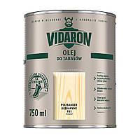 Террасное масло Vidaron Olej Do Tarasow (серый антрацит D 05) 0,750 л, фото 1
