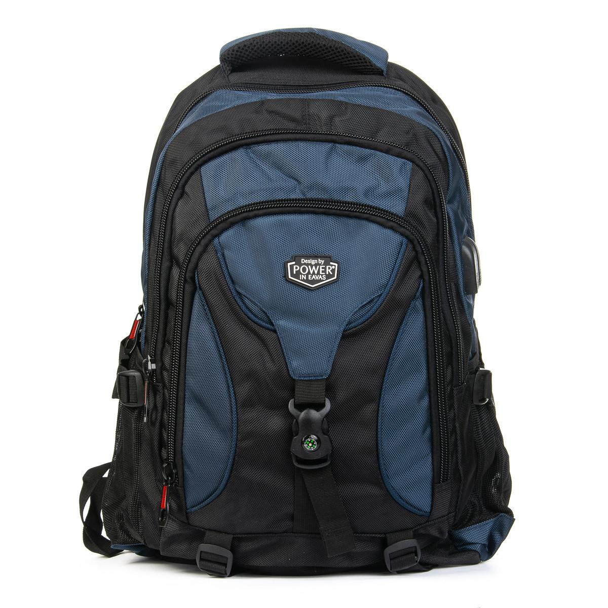 Рюкзак Городской нейлон Power In Eavas 8210 black-blue