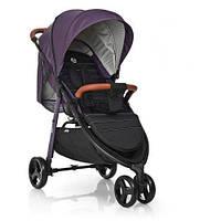 Детская прогулочная коляска со съемным бампером и дождевиком El Camino ME 1025 X3 Фиолетовая