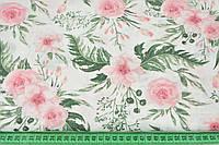 """Ткань муслин """"Цветы"""", ширина 160 см"""