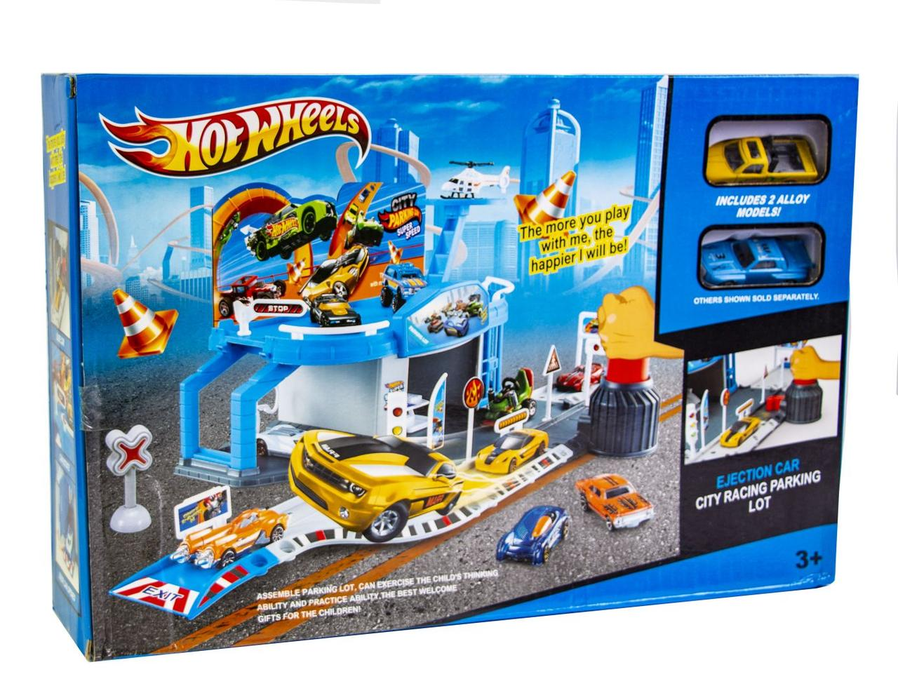 Городской гараж Hot Wheels HW-105 c 2-мя машинками