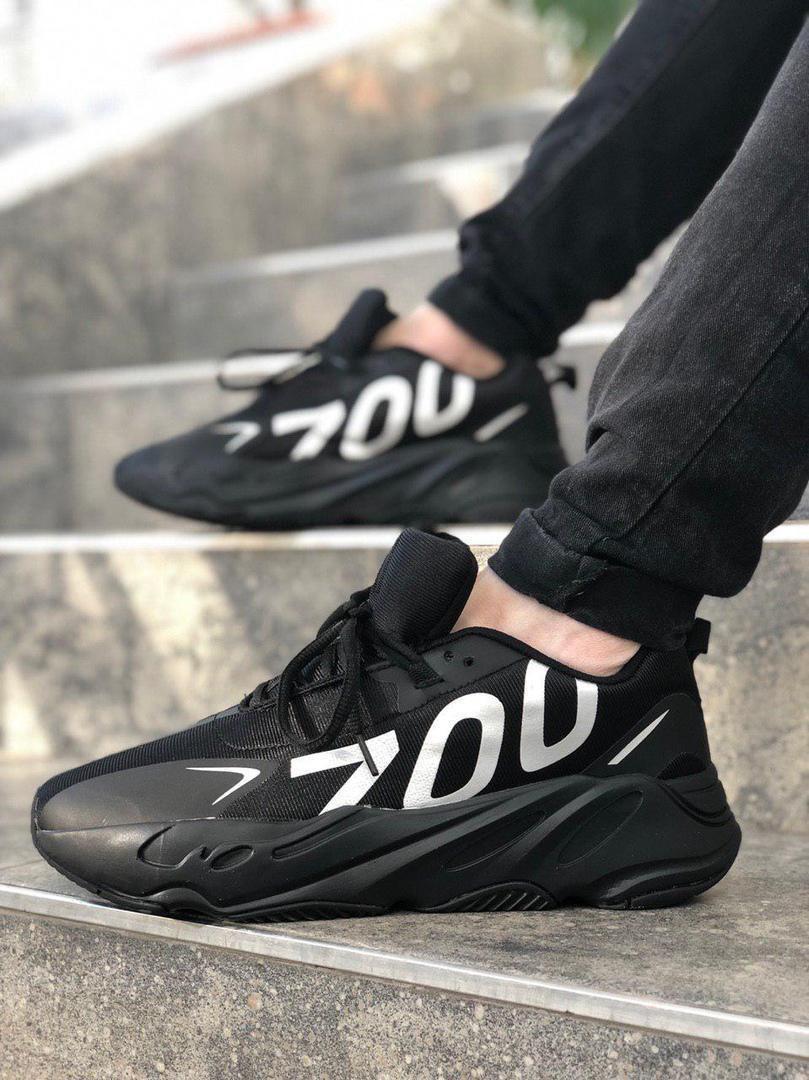 Мужские кроссовки adidas yeezy 700 black (Адидас Изи 700)