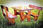 Мебель из натурального дерева для кафе, комплект деревянный 1500*800 от производителя